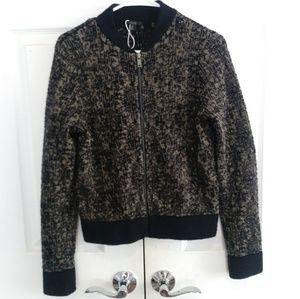 New COS gold and black bomber jacket